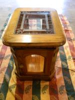 Solid Oak Lighted End Table Ashby MN