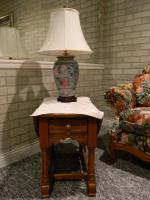 Solid Oak End Table and Lamp Ashby MN