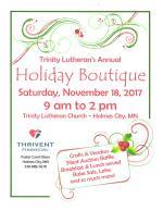 Trinity Lutheran Church Holiday Boutique Alexandria MN