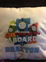 Thomas the train personalized pillows Willmar MN