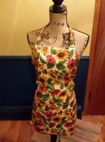 Sunflower frenzy adult apron..FREE SHIPPING Willmar MN