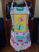 Vintage quilted mothers day adult apron..FREE SHIP Willmar MN