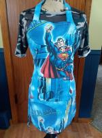 Superman daily planet reversible adult apron..FREE Willmar MN