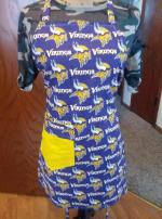 MINNESOTA VIKINGS REVERSIBLE APRON..FREE SHIPPING Willmar MN