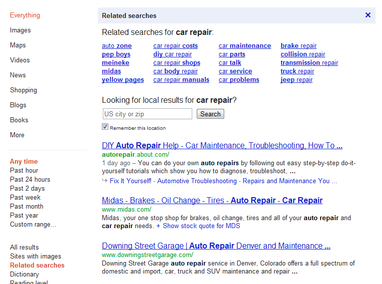 semantic keyword research aided by related search - www.springmerchant.com