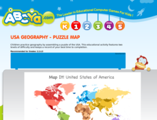 Usa Map Puzzle Abcya