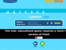 hour of code lightbot flash