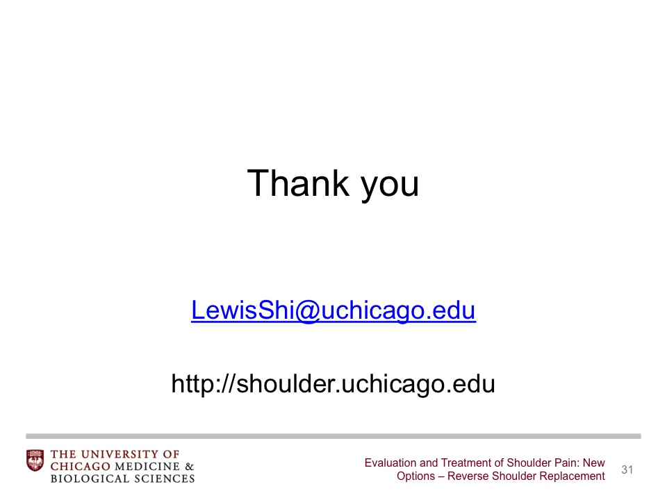 Evaluation and Treatment of Shoulder Pain: New Options