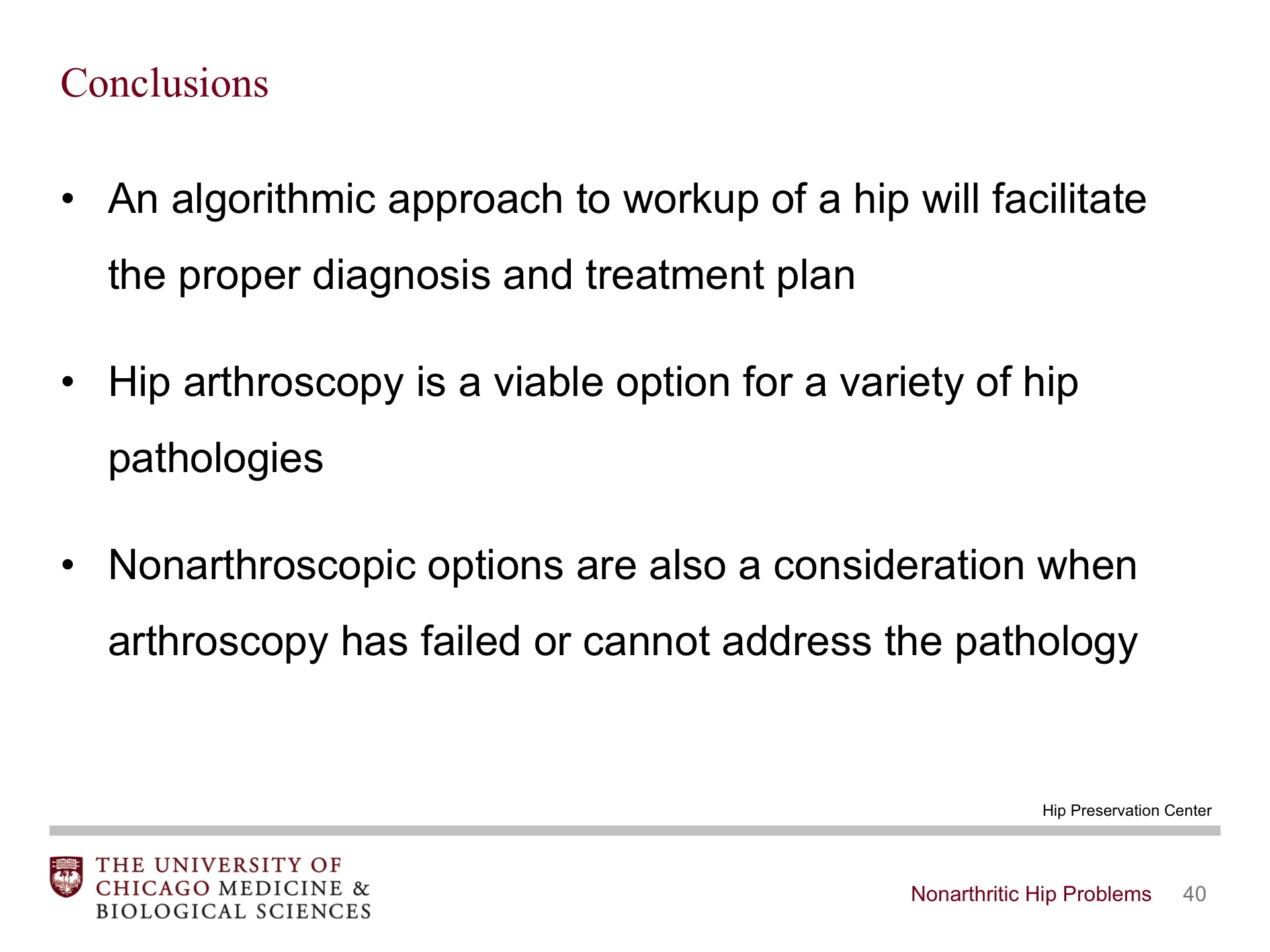 Nonarthritic Hip Problems - BroadcastMed