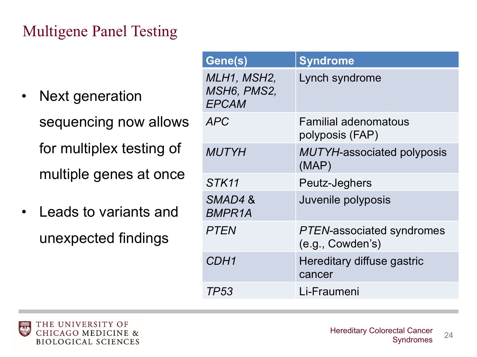 Hereditary Colorectal Cancer Syndromes Broadcastmed