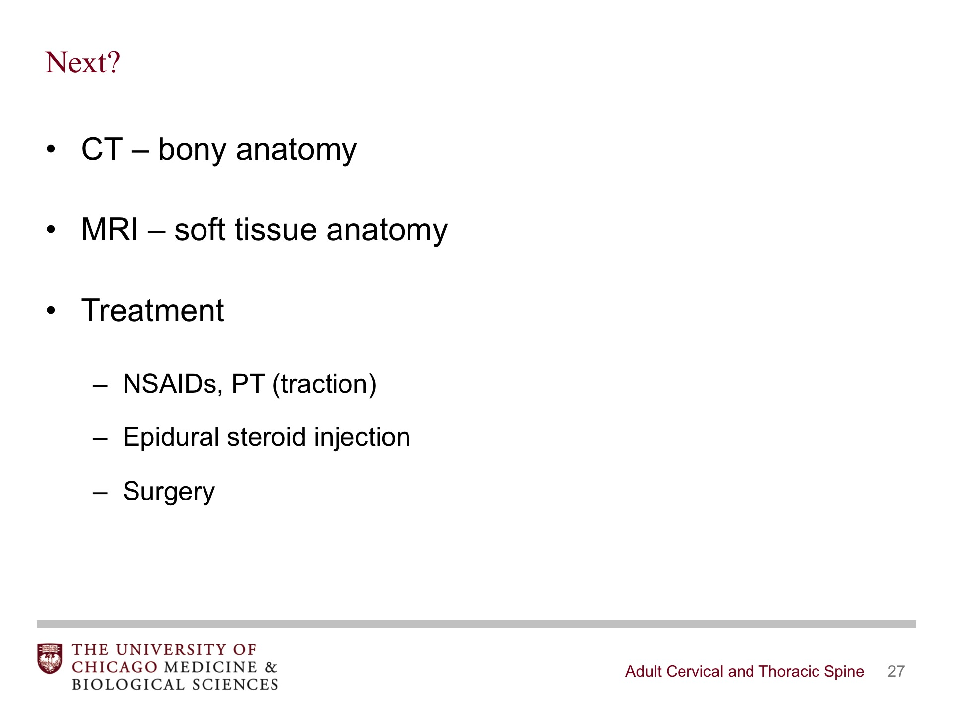Adult Cervical and Thoracic Spine - BroadcastMed