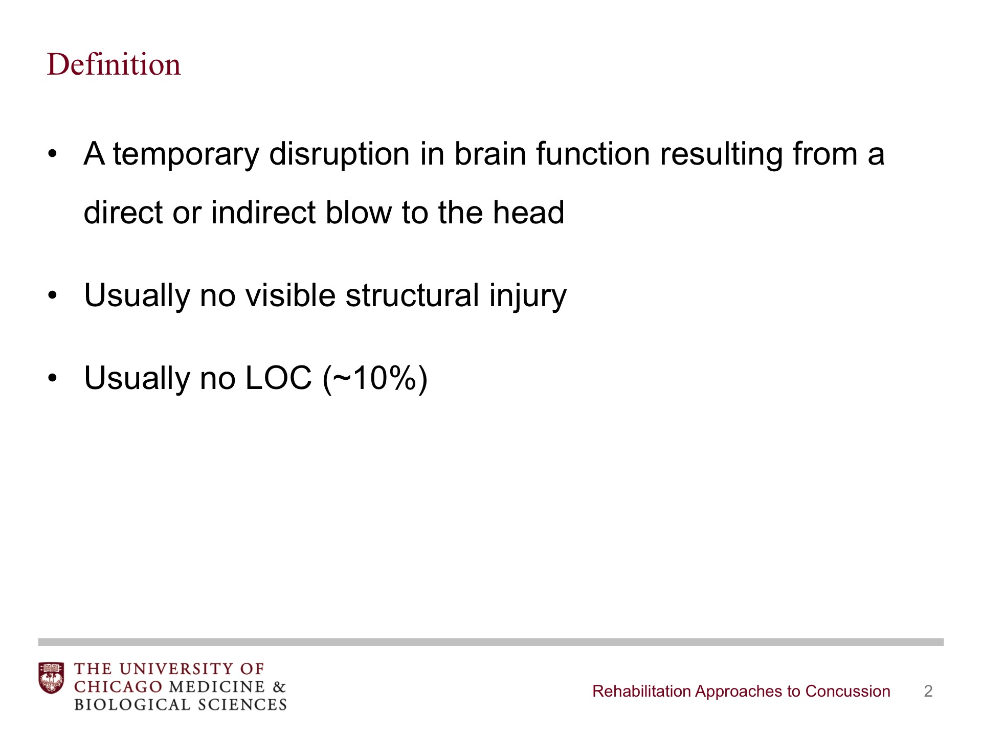 rehabilitation approaches to concussion - broadcastmed