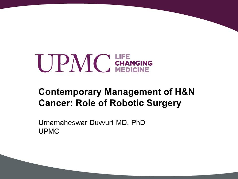 Contemporary Management Of Head And Neck Cancer Role Of Robotic