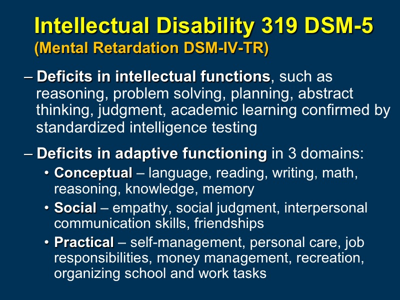 Neurodevelopmental Disorders: Autism Spectrum Disorder