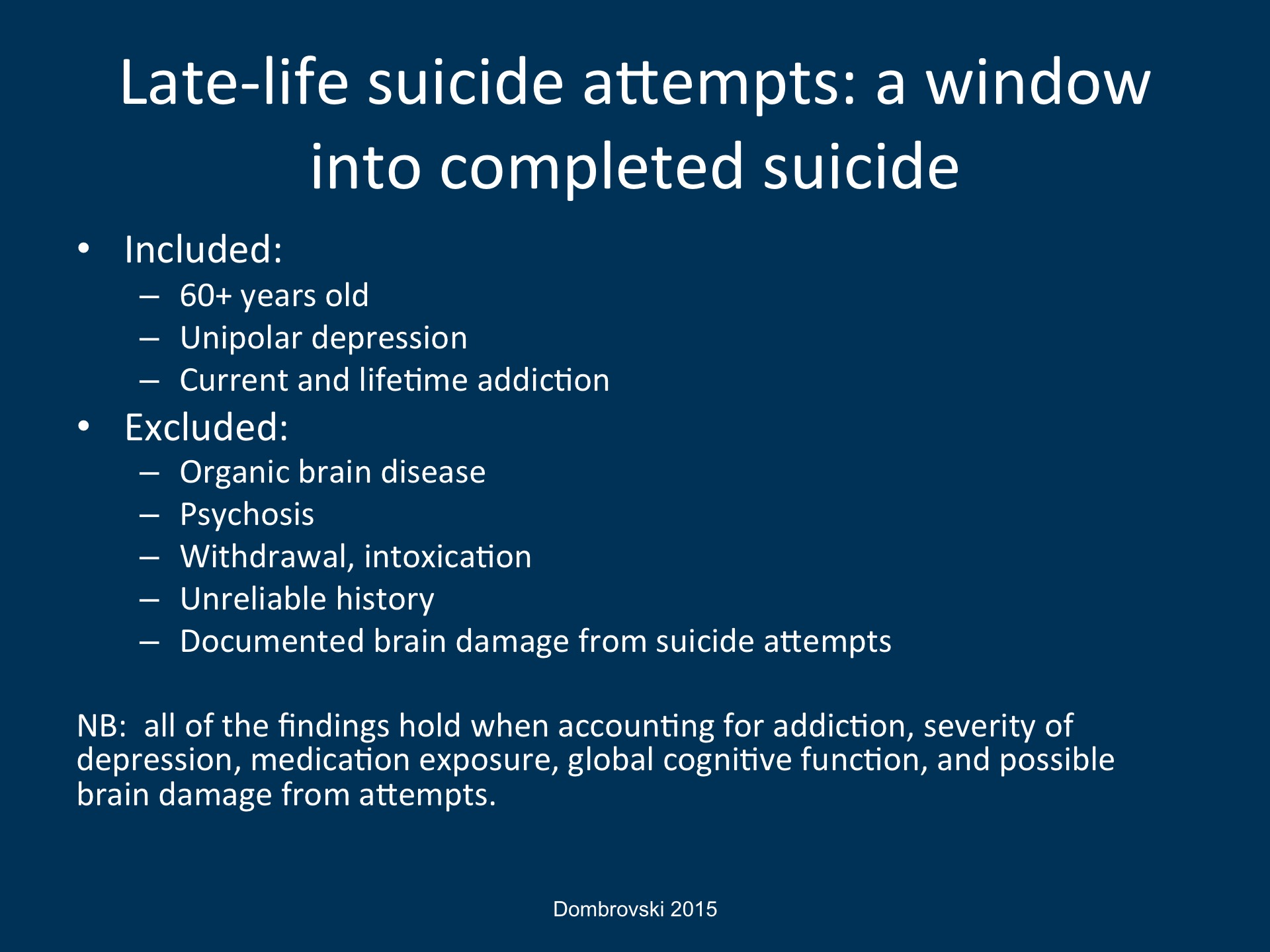 Late Life Suicide As A Disadvantageous Choice Broadcastmed Images, Photos, Reviews