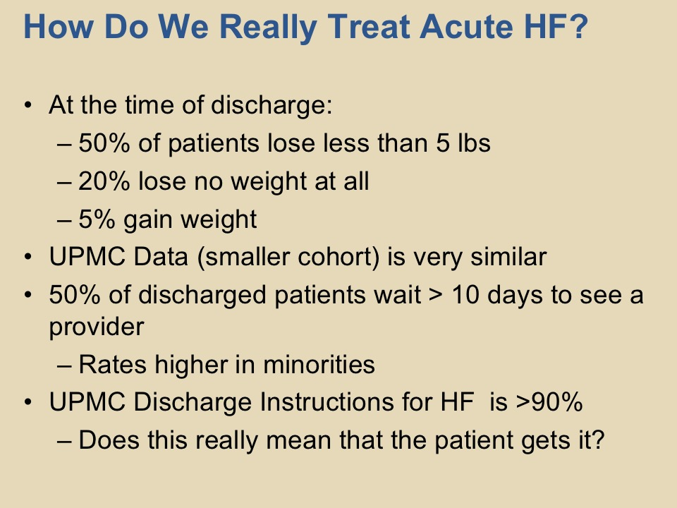 Heart Failure Readmissions The Challenge Upmc