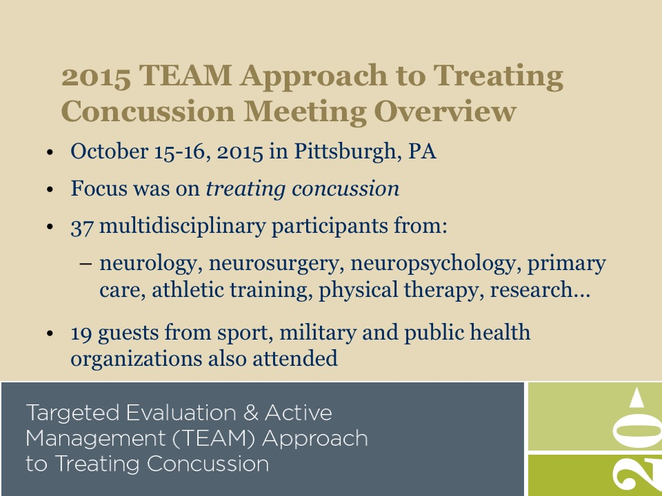 Active Intervention In Concussion Results From Team Targeted