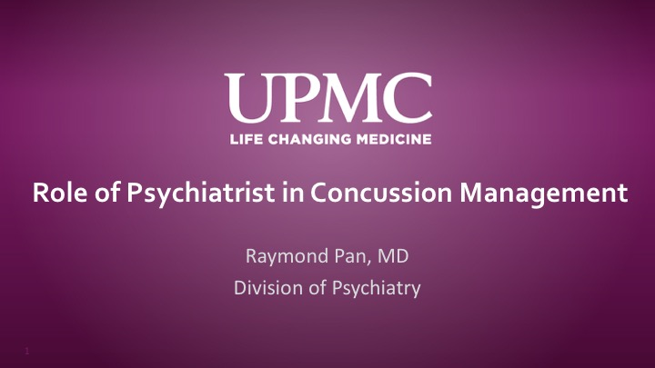 Role of Psychiatrist in Concussion Management | UPMC