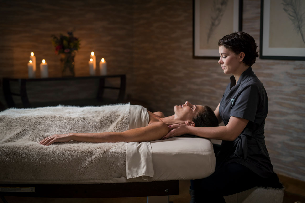 Woman recieving massage