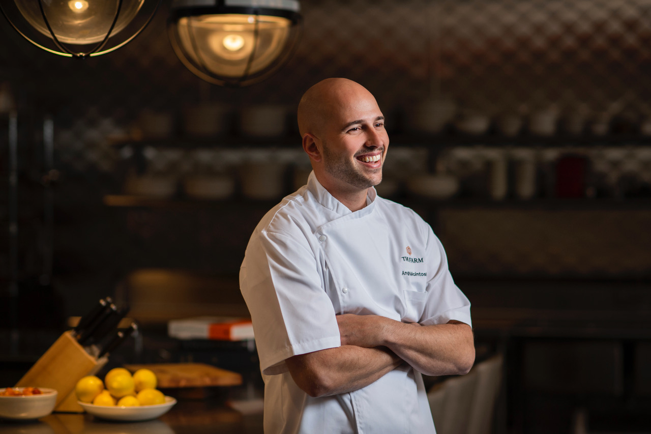 Angus McIntosh is the Executive Chef in charge of The Farms cuisine at the Brush Creek Luxury Ranch