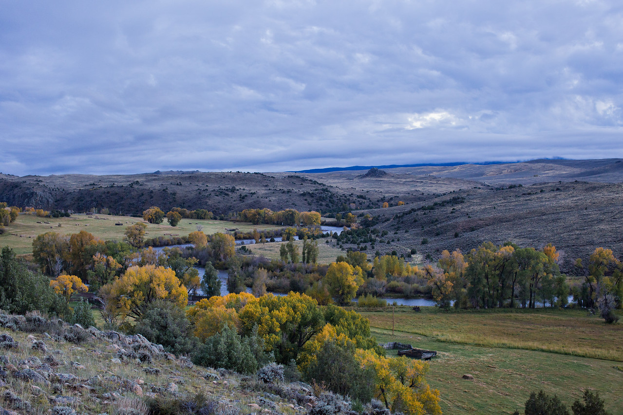 Southern Wyoming landscape with French Creek