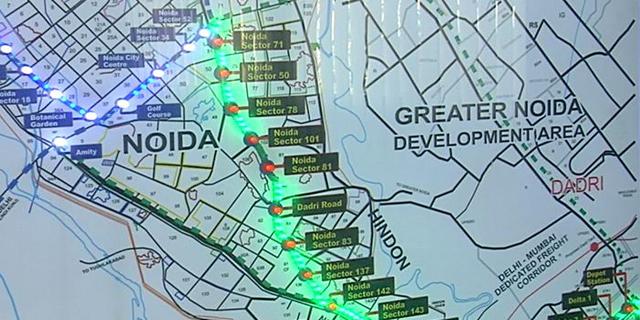 Noida metro map