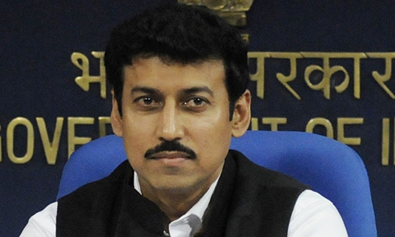 Rajyavardhan Singh Rathore won an Olympic Silver in 2004 Athens Game and  is now MoS for Information & Broadcasting.