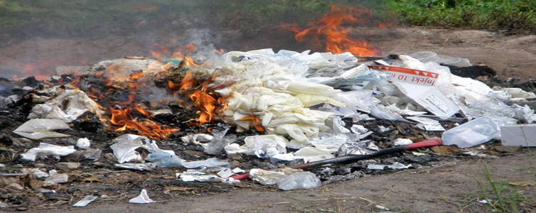 Burning of waste is a traditional and hazardous way of discarding waste and is practised around the country. (Representational Image)