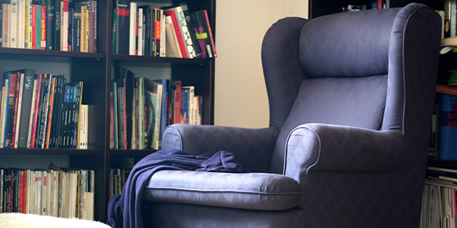 Nothing better than a big comfy chair to help dive into a good book or movie.