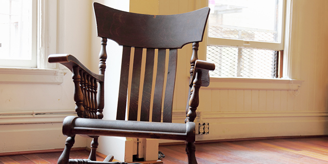 The wooden rocking chair is a classic, popular through the ages.