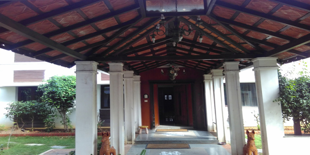 The house of  Subramanian's draws a lot of inspiration from traditional Tamil Agraharam architecture.
