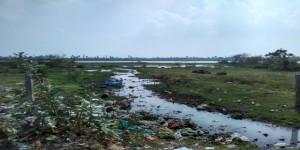 Save nature, health hazard, lake, pollution