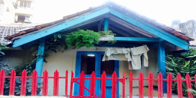 Most of the villas are colourful and maintained well