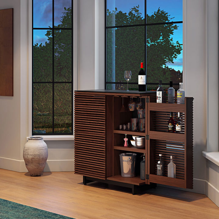 ... The Contemporary Corridor Home Bar By BDI Beautiful Design In Chocolate  Walnut With Plenty Of Storage ...