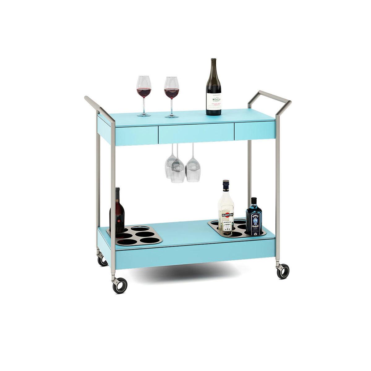 Verra glass bar cart 5640 bdi for Mobili bar cart