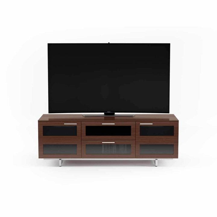 ... The Avion Flat Panel Tv Cabinet By BDI Full Modern Media Cabinet Storage  In Chocolate Walnut ...