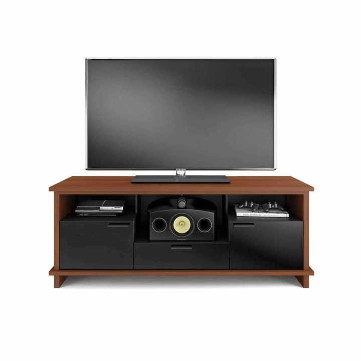 ... The Innovative Braden Media Cabinet By BDI In Natural Stained Cherry  Full Home Entertainment Center With ...