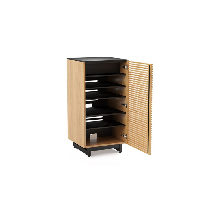 ... The Corridor Audio Tower In White Oak By BDI Furniture Sophisticated  Media Cabinet With Adjustable Shelving ...