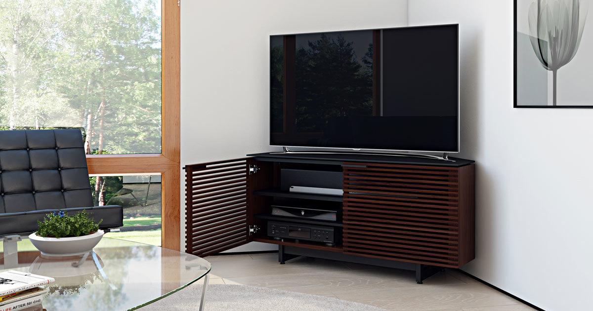 Corridor 8175 Corner Media Cabinet Bdi Furniture