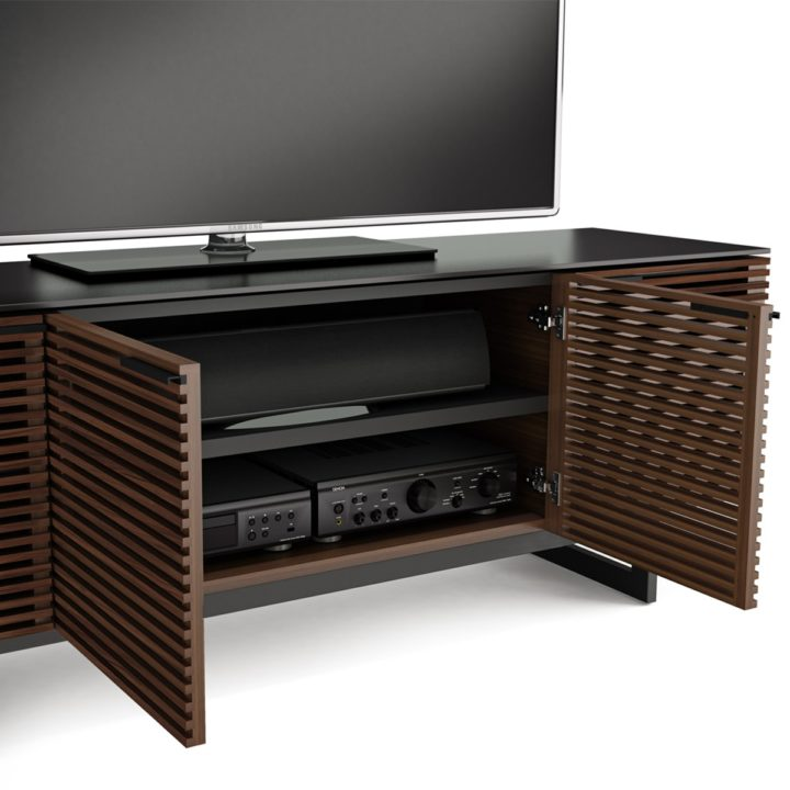 ... The Corridor Media Cabinet By BDI In Chocolate Walnut Modern Media  Storage With Adjustable Component Shelving ...