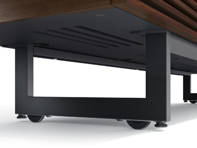 Delicieux The Corridor Tv Cabinet In Charcoal By BDI With Black Steel Legs