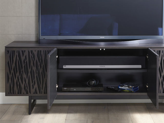 The Elements Mosaic Media Storage Cabinet by BDI Furniture featuring soundbar shelf