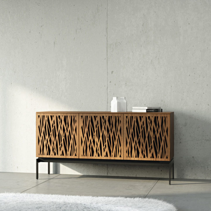 ... The Elements Storage Console By BDI Elegant Media Console With  Innovative Design ...