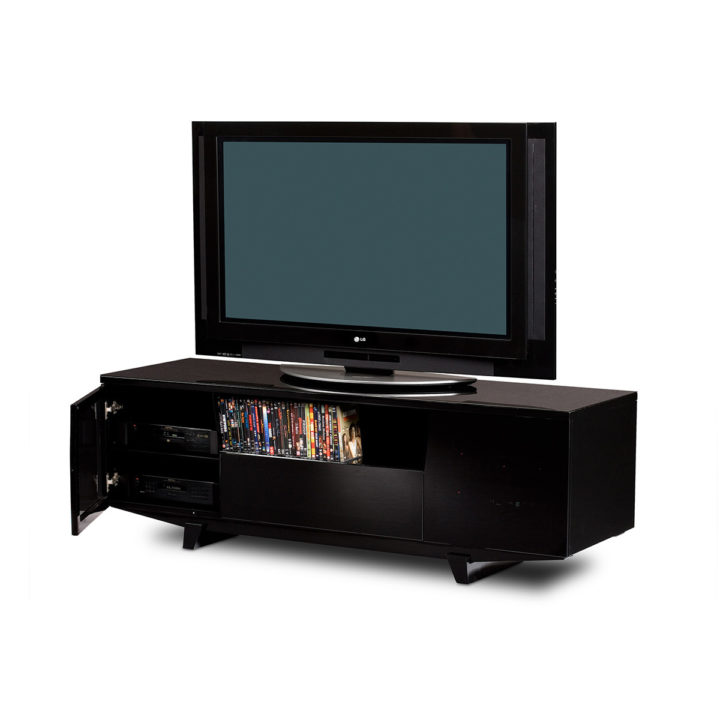 ... The BDI Marina Modern Tv Cabinet In Black Home Theater System With Retro  Classic Style