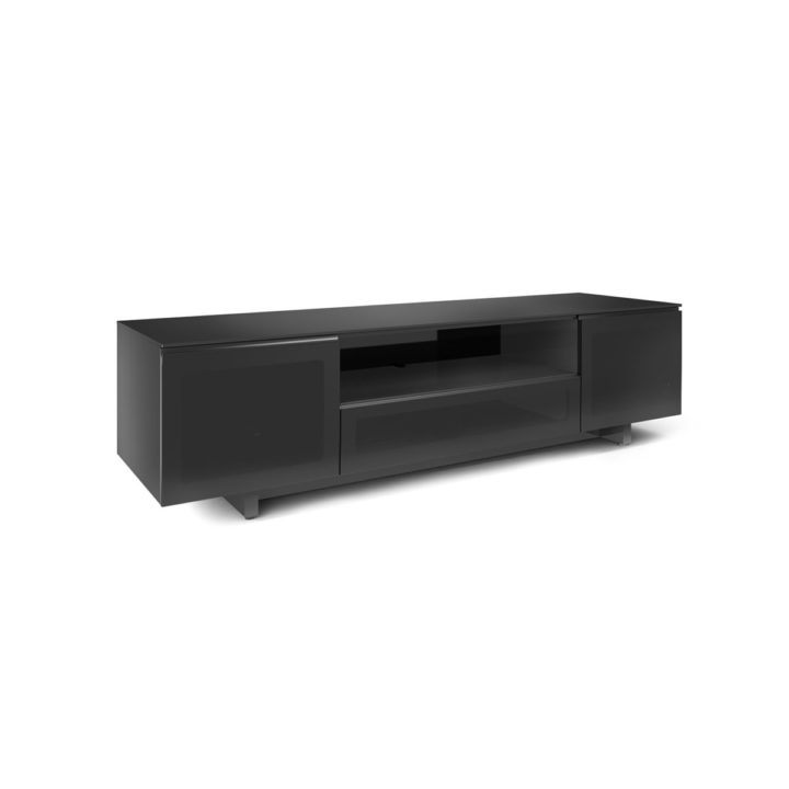 ... The Nora Media Cabinet In Black By BDI Modern Home Entertainment With  Soft Close Doors And ...