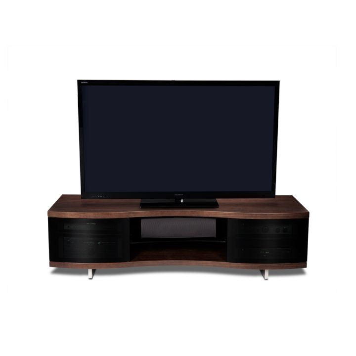 ... The Ola Curved Media Cabinet In Chocolate Walnut By BDI Modern Home  Entertainment Center With Adjustable ...