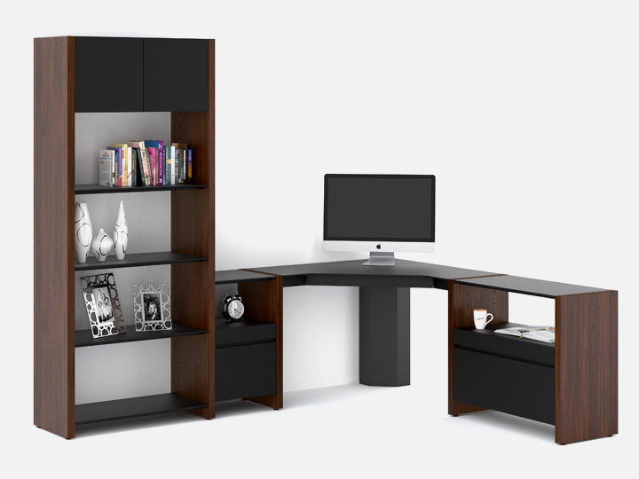 The Semblance Office Collection by BDI modular versatile home office