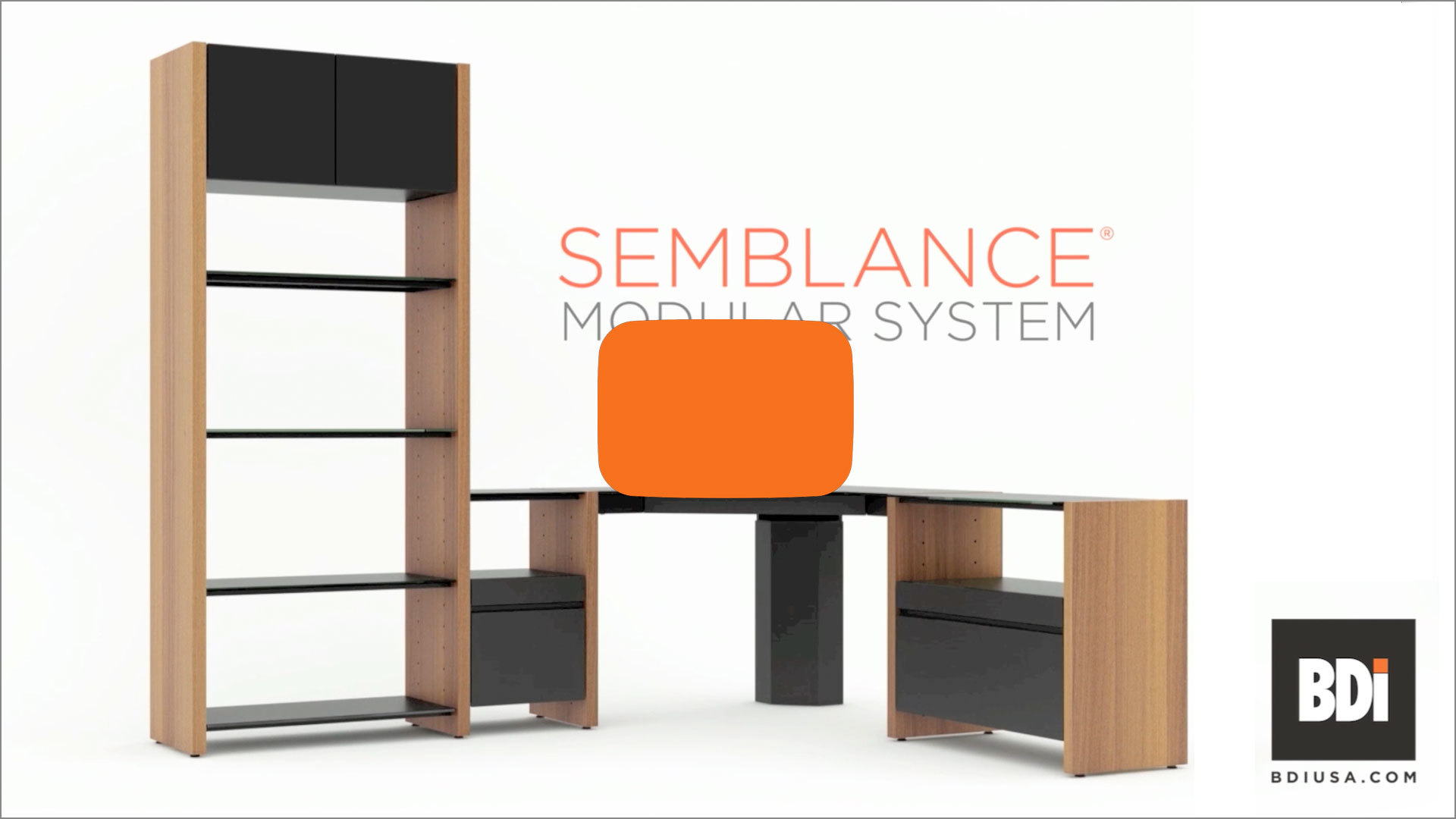 Semblance Modular Shelving, Media, and Office Systems | BDI Furniture