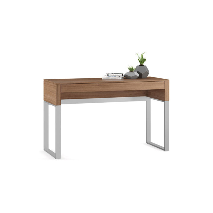 Great ... The Cascadia Laptop Desk In Walnut By BDI Versatile Desk With Full  Length Storage Drawer ... Awesome Ideas