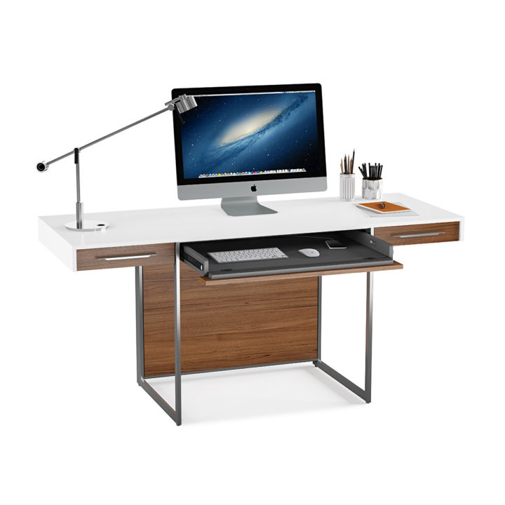 contemporary desks for office. The BDI Format Contemporary Desk In Satin White Walnut For Elegant Home Office Desks T